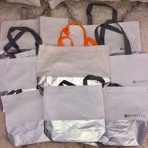 Athleta Tote Bags - lot of 8
